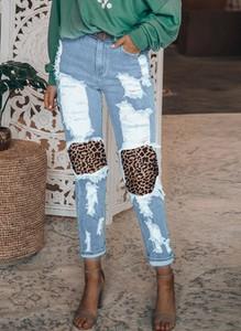 Niebieskie jeansy Sandbella z jeansu