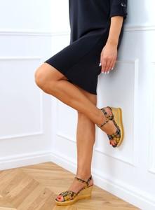 Sandały Buty Damskie z tkaniny