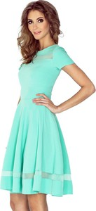 Sukienka MORIMIA z krótkim rękawem midi rozkloszowana
