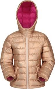Złota kurtka dziecięca Mountain Warehouse z tkaniny dla dziewczynek