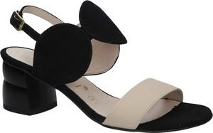 Czarne sandały Oleksy ze skóry z klamrami