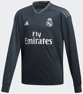 Czarna koszulka dziecięca Adidas z długim rękawem