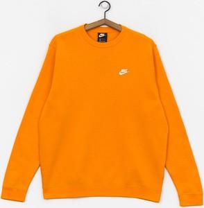 Pomarańczowa bluza Nike z bawełny