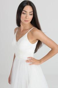 Sukienka Butik Ecru z tkaniny