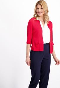 Czerwony sweter Lavard z tkaniny