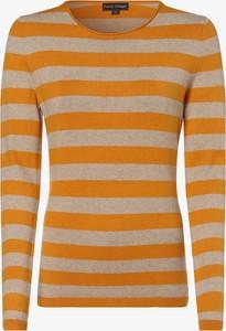 Żółty sweter Franco Callegari w stylu casual