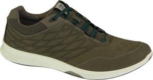 Zielone buty sportowe Ecco sznurowane z nubuku w sportowym stylu