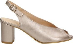 Różowe sandały Darbut ze skóry