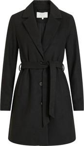 Płaszcz Vila w stylu casual z wełny