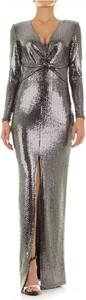 Sukienka Guess maxi z długim rękawem
