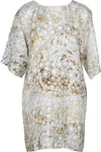 Sukienka Moschino z jedwabiu mini w stylu casual