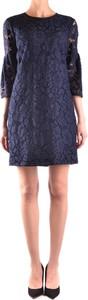 Niebieska sukienka Burberry z długim rękawem