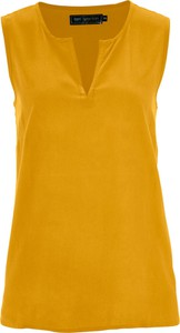 Bluzka bonprix bpc selection bez kołnierzyka w stylu casual