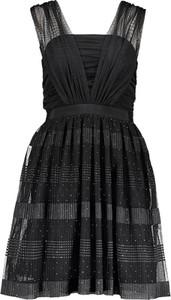 Sukienka Naf naf bez rękawów mini z dekoltem w karo