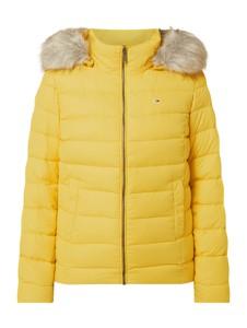 Żółta kurtka Tommy Jeans krótka w stylu casual