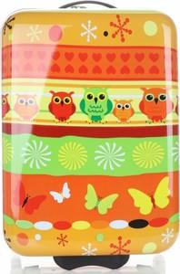 Oryginalne Walizki Kabinówki Dla Dzieci z motywem sowy Snowball Pomarańczowe (kolory)