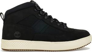 Czarne buty zimowe Timberland sznurowane w street stylu