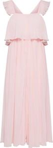 Różowy kombinezon New Look z długimi nogawkami z tkaniny