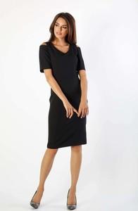 Sukienka Nommo z krótkim rękawem z dekoltem w kształcie litery v