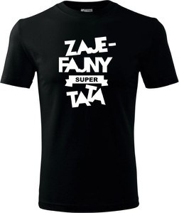 Czarny t-shirt TopKoszulki.pl z krótkim rękawem