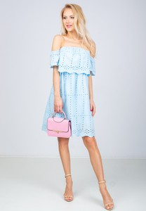 d329abcbc1 błękitna sukienka stylizacje. - stylowo i modnie z Allani