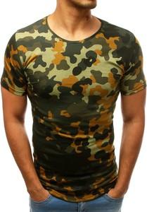 T-shirt Dstreet z krótkim rękawem w militarnym stylu z bawełny