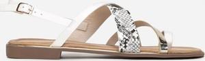 Sandały Multu ze skóry z płaską podeszwą w stylu casual