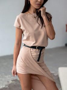 Sukienka SELFIEROOM z krótkim rękawem w stylu casual z bawełny