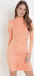 Pomarańczowa sukienka born2be mini w stylu casual