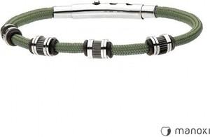 Manoki BA703Z zielona bransoletka sznurkowa