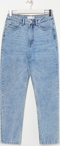 Niebieskie jeansy Sinsay w stylu casual z jeansu