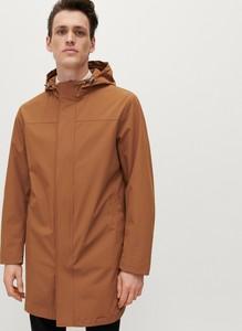 Brązowy płaszcz męski Reserved w młodzieżowym stylu
