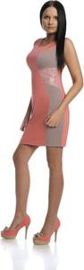 Czerwona sukienka Fokus mini bez rękawów