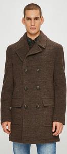 Brązowy płaszcz męski Pierre Cardin w stylu casual