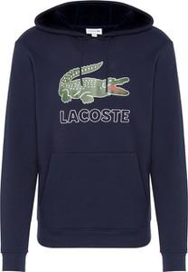 Granatowa bluza Lacoste z dresówki