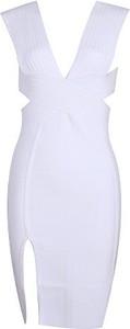Sukienka Whoinshop bandażowa z dekoltem na plecach