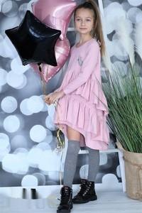 Sukienka dziewczęca Qba Kids z bawełny