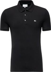 Czarna koszulka polo Lacoste z krótkim rękawem