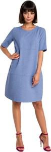 Niebieska sukienka Be z tkaniny