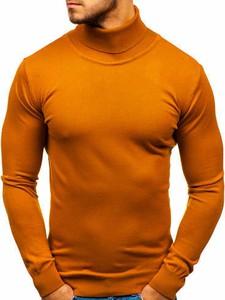 Pomarańczowy sweter Denley z jeansu