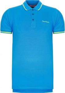 Niebieska koszulka polo Pierre Cardin w stylu casual