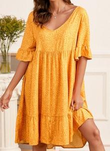 Sukienka Cikelly mini z dekoltem w kształcie litery v prosta