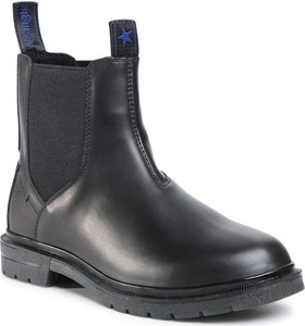 Czarne buty zimowe Wrangler ze skóry