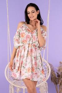 Sukienka MERRIBEL z dekoltem w kształcie litery v w stylu boho mini