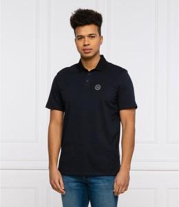 Czarna koszulka polo Armani Exchange z krótkim rękawem