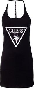 Czarna sukienka Guess na ramiączkach mini
