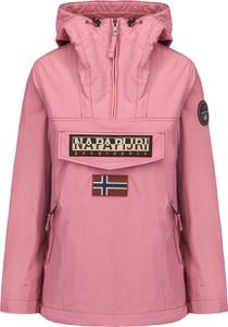 Różowa kurtka Napapijri z tkaniny w sportowym stylu krótka