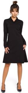 Sukienka Be midi trapezowa z długim rękawem