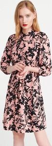 Sukienka Reserved z długim rękawem w stylu boho mini