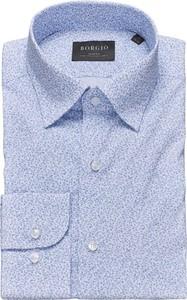 Niebieska koszula Borgio z klasycznym kołnierzykiem